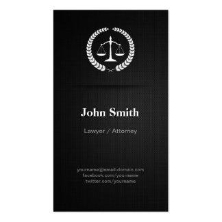 Lawyer / Attorney - Professional Elegant Black Pack Of Standard Business Cards
