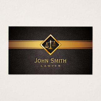 Lawyer Attorney Professionl Gold Scale Elegant Business Card