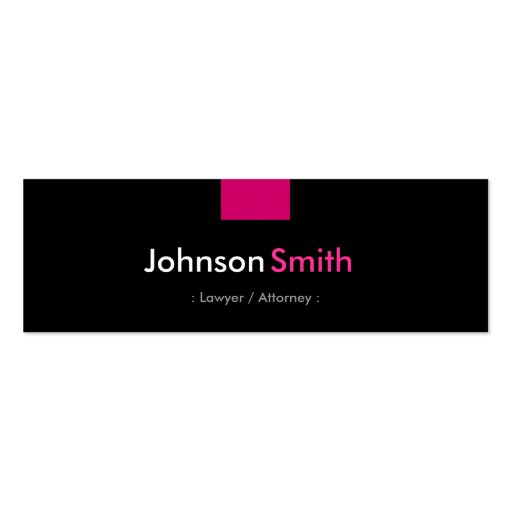 Lawyer / Attorney - Rose Pink Compact Business Card Templates