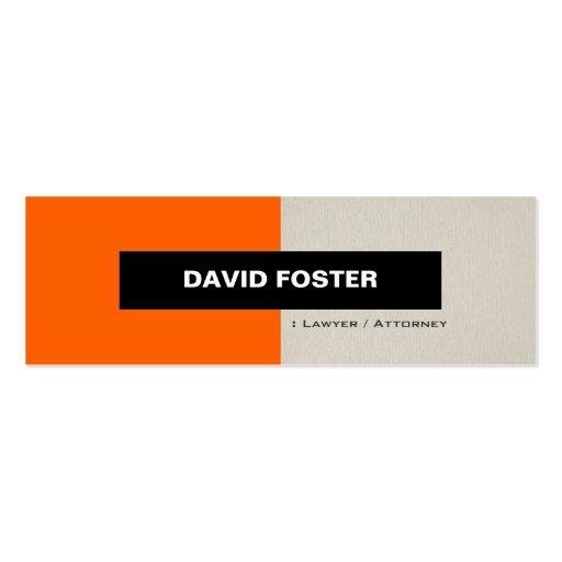 Lawyer / Attorney - Simple Elegant Stylish Business Card Templates