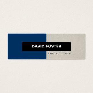 Lawyer / Attorney - Simple Elegant Stylish Mini Business Card
