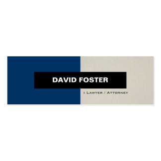 Lawyer / Attorney - Simple Elegant Stylish Pack Of Skinny Business Cards