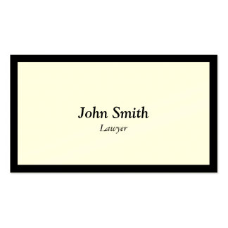 Lawyer Attorney Simple Plain Black Border Pack Of Standard Business Cards