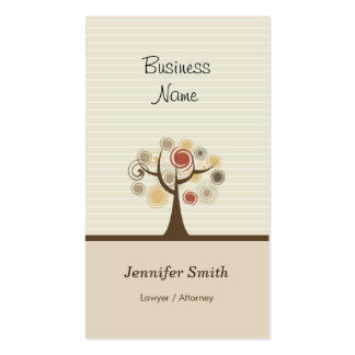 Lawyer / Attorney - Stylish Natural Theme Pack Of Standard Business Cards