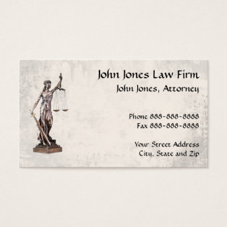 Lawyer Attorney Symbol Legal Business Card