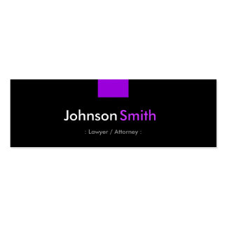 Lawyer / Attorney - Violet Purple Compact Pack Of Skinny Business Cards
