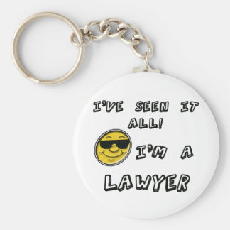 Lawyer Basic Round Button Key Ring