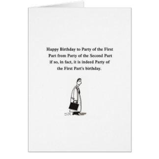 Lawyer Birthday cartoon gretting card