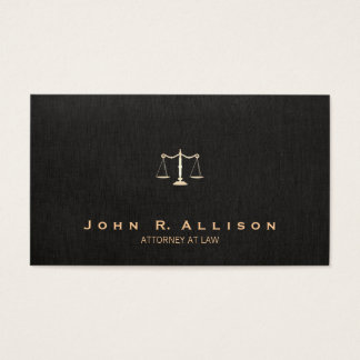 Lawyer Black Linen Look Scales of Justice
