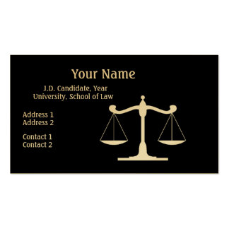 Lawyer Black Pack Of Standard Business Cards