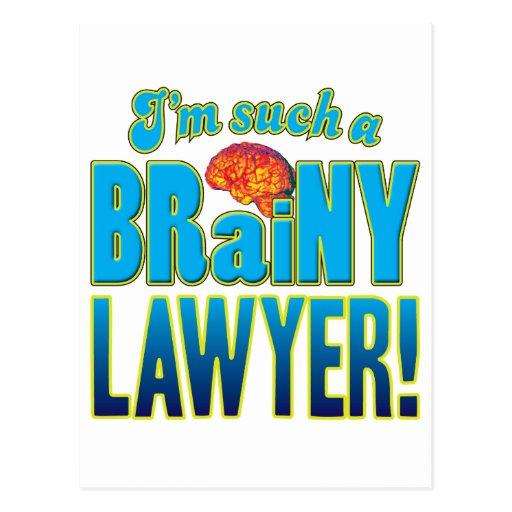 Lawyer Brainy Brain Post Card