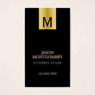 Lawyer business card design Black and gold