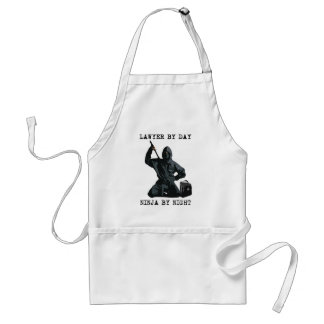 Lawyer By Day, Ninja By Night Standard Apron