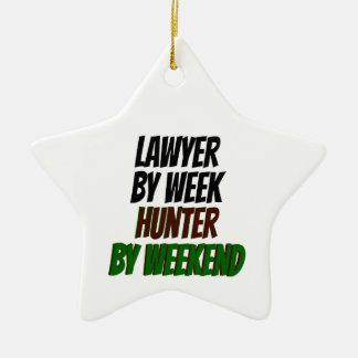 Lawyer by Week Hunter by Weekend Ceramic Ornament