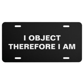 Lawyer Car Tag: I object... License Plate