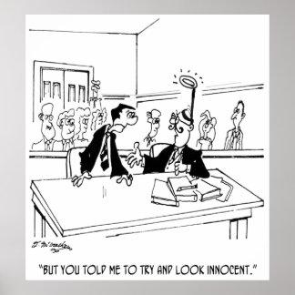Lawyer Cartoon 5299 Poster