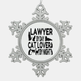 Lawyer Cat Lover Ornament