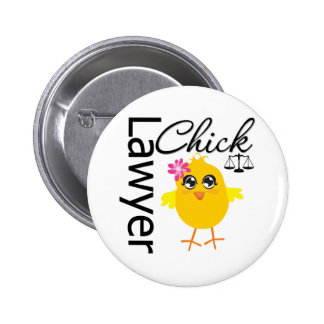 Lawyer Chick 6 Cm Round Badge