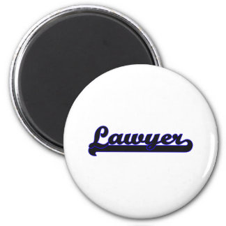 Lawyer Classic Job Design 6 Cm Round Magnet