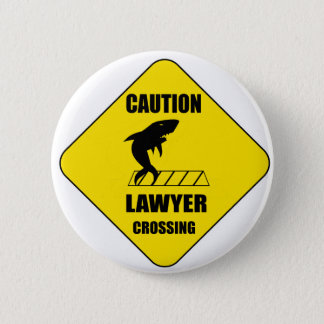 Lawyer Crossing with Shark 6 Cm Round Badge