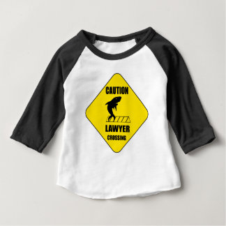 Lawyer Crossing with Shark Baby T-Shirt