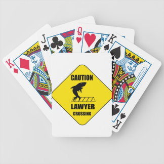 Lawyer Crossing with Shark Bicycle Playing Cards
