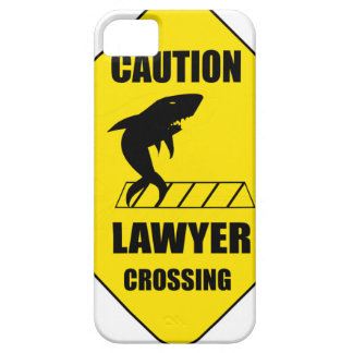 Lawyer Crossing with Shark Case For The iPhone 5
