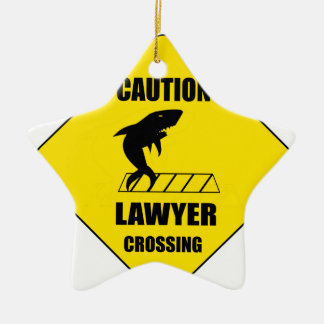 Lawyer Crossing with Shark Ceramic Ornament
