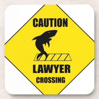 Lawyer Crossing with Shark Coaster
