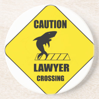 Lawyer Crossing with Shark Coasters