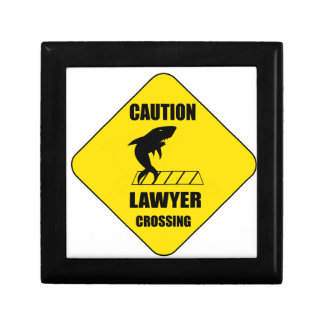 Lawyer Crossing with Shark Gift Box