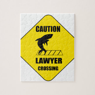 Lawyer Crossing with Shark Jigsaw Puzzle