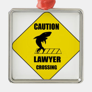 Lawyer Crossing with Shark Metal Ornament