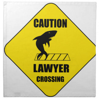 Lawyer Crossing with Shark Napkin