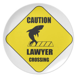 Lawyer Crossing with Shark Plate