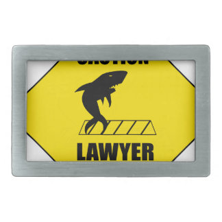 Lawyer Crossing with Shark Rectangular Belt Buckle