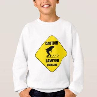 Lawyer Crossing with Shark Sweatshirt