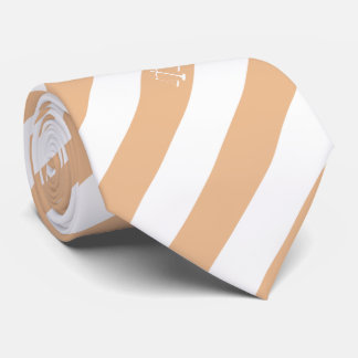 Lawyer Custom Initials Beige Stripes Justice Scale Tie