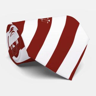 Lawyer Custom Initials Maroon Stripes Justice Tie