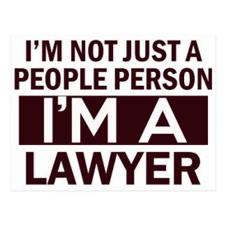 lawyer design postcard