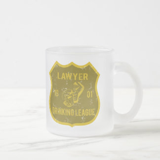 Lawyer Drinking League Frosted Glass Mug