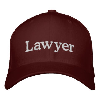 Lawyer Embroidered Hat