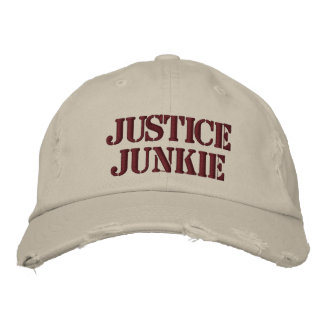 Lawyer Hat Gift - Funny Name - Justice Junkie Embroidered Baseball Cap