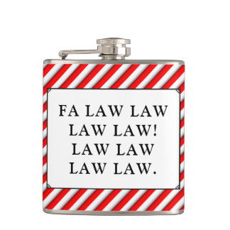 lawyer holidays hip flask