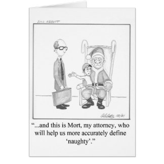 Lawyer Humor Christmas Greeting Card