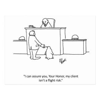 "Lawyer Humor ""Flight Risk"" Postcard"