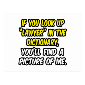Lawyer In Dictionary...My Picture Postcard
