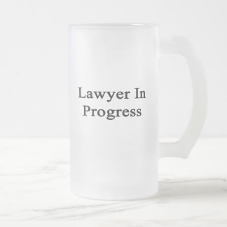 Lawyer In Progress Frosted Glass Mug