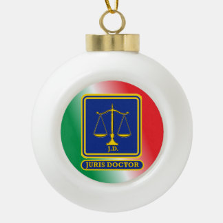 Lawyer JD Scales Shield Ceramic Ball Decoration