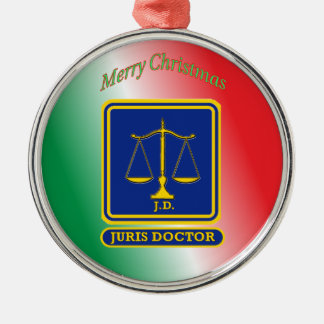 Lawyer JD Scales Shield Ornaments